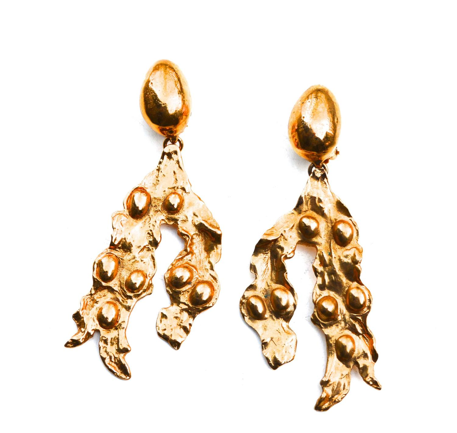 Oversized Yves Saint Laurent Abstract Earrings 1