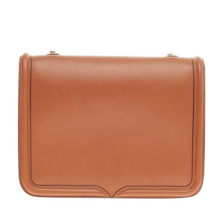 Alexander McQueen Metal Plate Heroine Satchel Leather Large at 1stdibs
