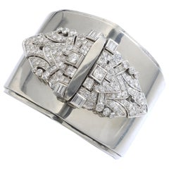 Art Deco Diamond Bangle