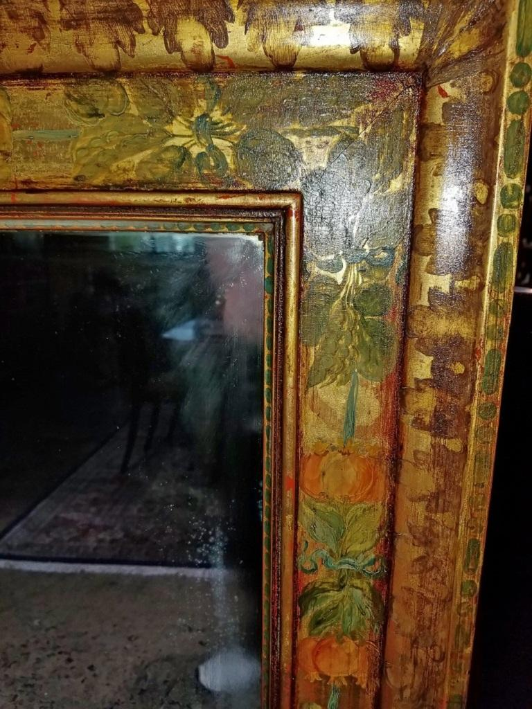 Art Deco Era Nena Claiborne Hand Painted Mirror For Sale 8