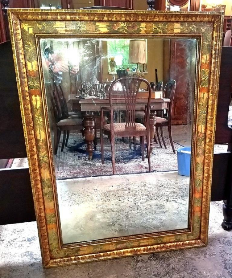 Art Deco Era Nena Claiborne Hand Painted Mirror For Sale 10
