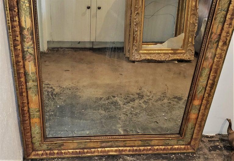 Art Deco Era Nena Claiborne Hand Painted Mirror For Sale 1