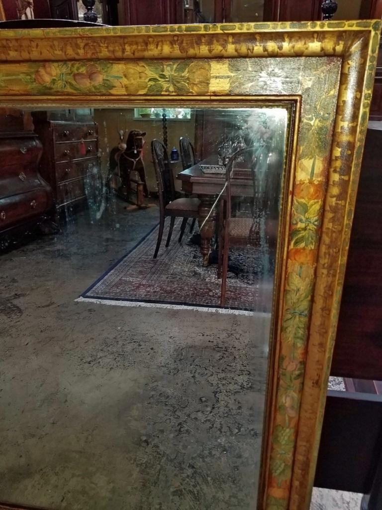 Art Deco Era Nena Claiborne Hand Painted Mirror For Sale 4