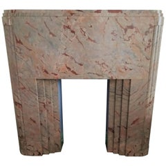 Art Déco Fireplace in Sarancolin-Marble