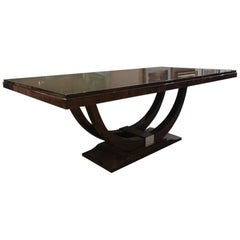 Art Deco French Dining Table in Walnut