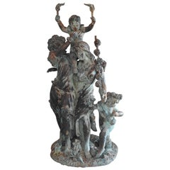 Art Deco Italian Bronze with Women and Children
