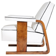 Art Deco Lounge Armchair, 1930s