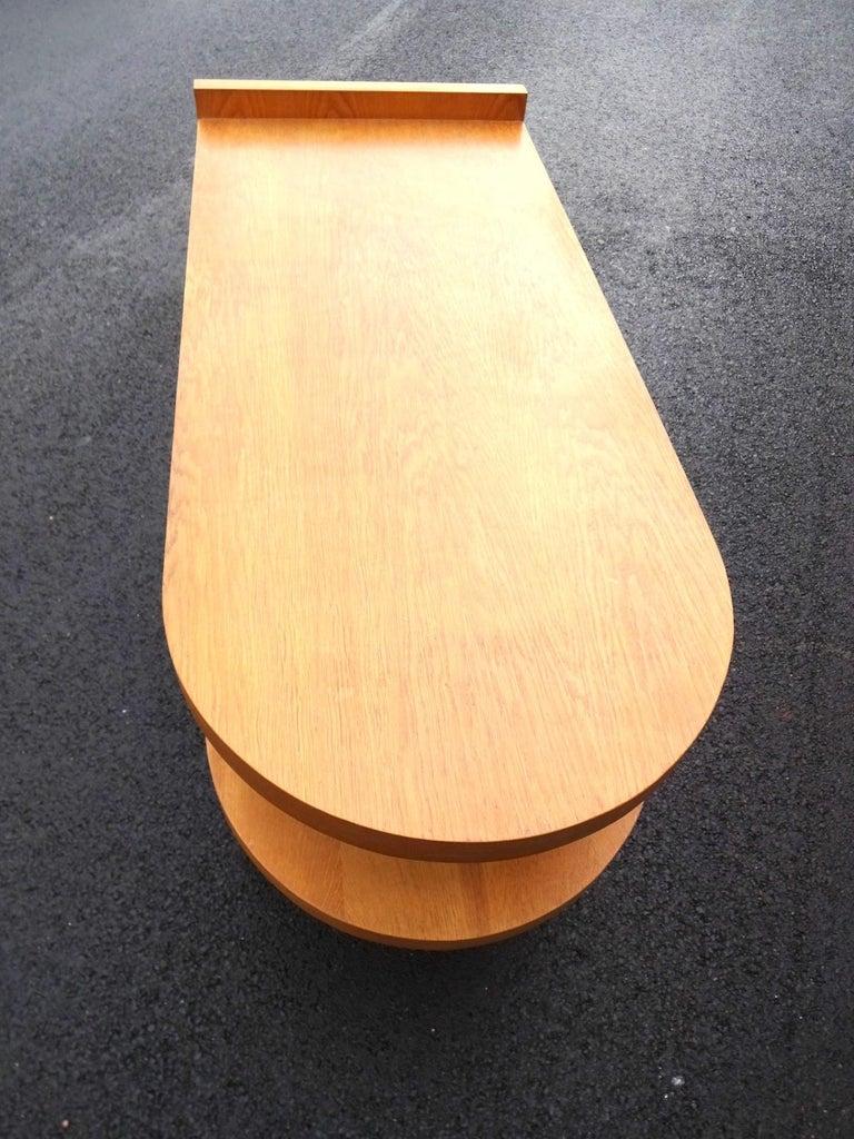20th Century Art Deco Oak Desk For Sale