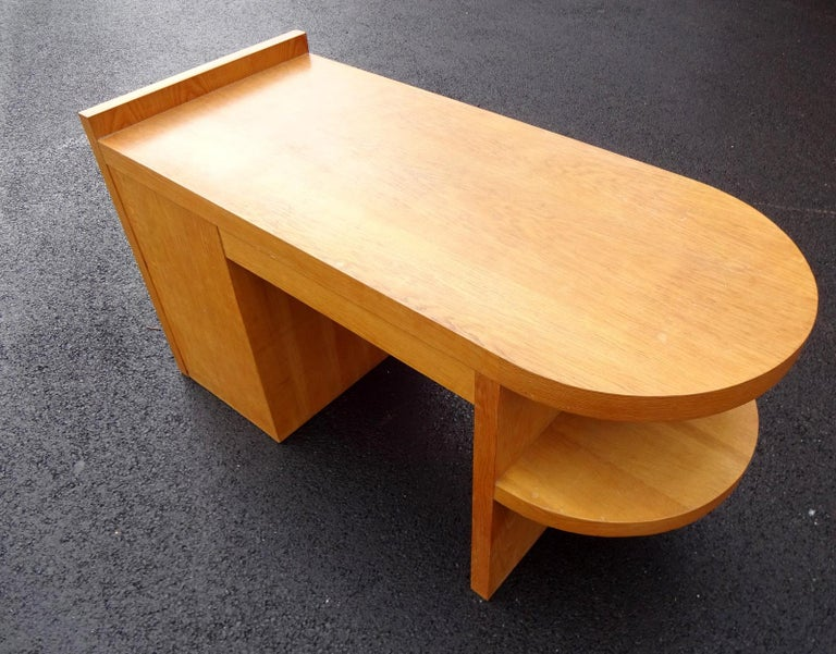 Art Deco Oak Desk For Sale 1