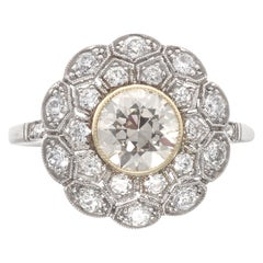 Art Deco Revival Diamond Platinum Ring