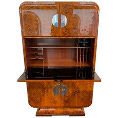 Art Deco Secretaire, Walnut Veneer, France, circa 1930