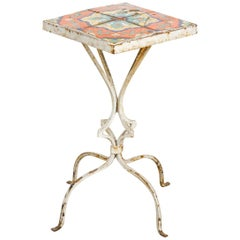 Art Deco Tile-Top Drink Table by Catalina Tile