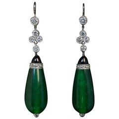 Art Deco Vintage Drop Shape Dangle Earrings