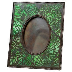 Art Nouveau Picture Frame Signed Tiffany Studios, Pine Needle Pattern