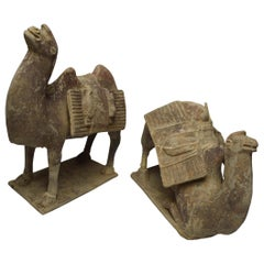Asian Chinese Art Antique Bactrian Camels circa 15th Century Ex Christie's HK