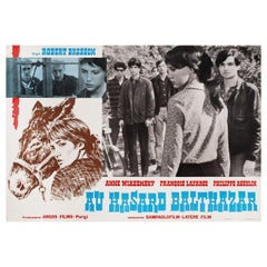 Au Hasard Balthazar 1971 Italian Fotobusta Film Poster