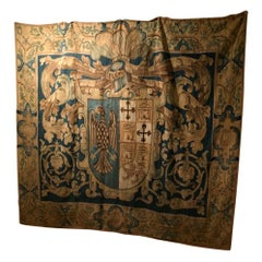 """Aubusson """"Armorial"""" Tapestry, France, 17th Century"""