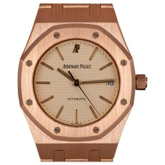 Audemars Piguet Royal Oak Mid-Size 18 Karat Rose Gold Silver Dial