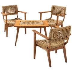 Audoux-Minet for Vibo Oak and Abaca Orangery Set