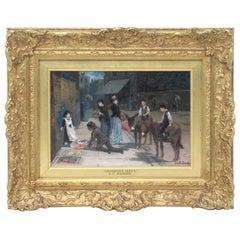 Augustus Edwin Mulready British 1844-1905 Favourable Critics Oil Painting Gilt