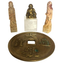 Auspicious Idols, Soapstone Figures and Bronze, Middle of the 20th Century