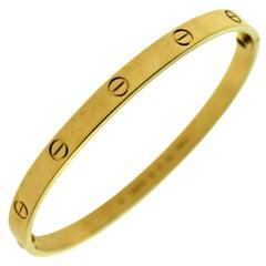 Authentic Cartier Love Bracelet in 18 Karat Yellow Gold, Certified 'C-340'
