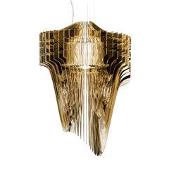 Avia Gold Small Ceiling Lamp by Zaha Hadid
