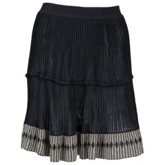 Azzedine Alaia Black Pleated Skate Skirt