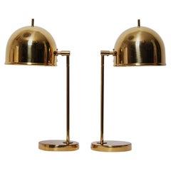 B-075 Table Lamps in Brass by Eje Ahlgren for Bergboms, Sweden