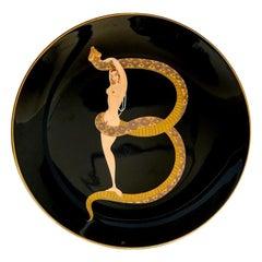 B Plate the Alphabet, Erté 'After', 1986