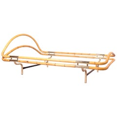 Bamboo and Brass Bed