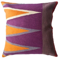 Bar Tarek Hand Embroidered Modern Geometric Throw Pillow Cover