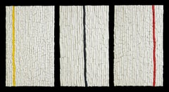 Rice paper & acrylic, Sculptural wall work, Barbara Hirsch, In Parallel
