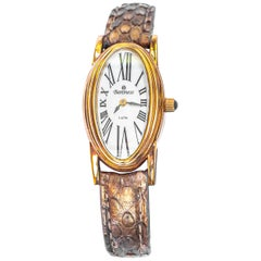 Baroness Mother-of-Pearl Dial with Sapphire Crystal Cover and Python Strap Watch