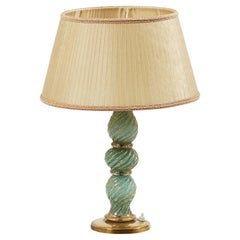Barovier & Toso 1950s Mid-Century Modern Table Lamp in Hand Blown Murano Glass