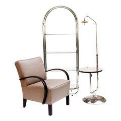 Bauhaus Style Tubular Shelf, Chrome