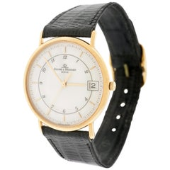 Baume & Mercier Classic Men's Wristwatch 18 Karat, circa 2000s