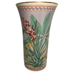 "Beautiful Versace Porcelain ""Tropical Wonderland"" Vase by Rosenthal"