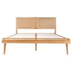 Bed, Headboard, Danish Weave, Custom, Mid Century Modern-Style, Hardwood, Rian