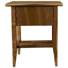 Bedside Table, Nightstand, Storage, Walnut, Customizable, Modern, Semigood, Rift