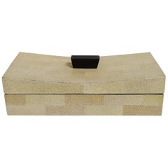 Beige Curved Shagreen Box