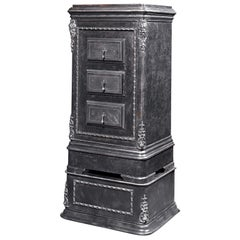 Belgian Iron Combination Safe by L. Duvilers