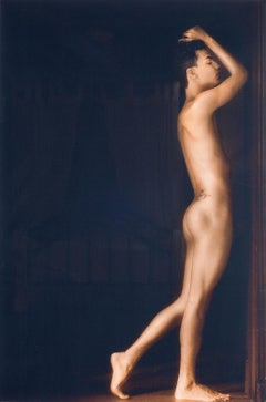 Golden Boy (Nude model in amazing light of old Colonial house in Cali, Colombia)