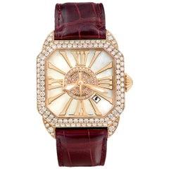 Berkeley 40 Luxury Diamond Watch for Men and Women, Rose Gold