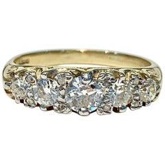 Bespoke 5-Stone Ring Set with 1.30 Carat Old Cut Diamonds in 18 Carat Gold