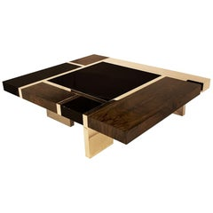 Biarritz Coffee Table 'Bronze, Ziricote, Black Lacquer' by Hudson