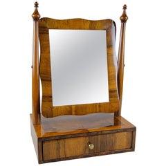 Biedermeier Vanity Table Mirror Nutwood, Austria, circa 1850