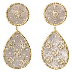 Bijoux Num Clover Pattern Pear Shape Drop Earrings