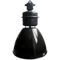 Black Enamel Vintage Industrial Factory Pendant Lights