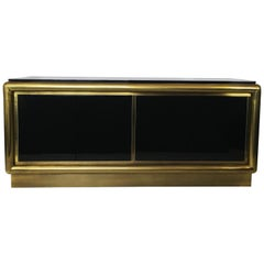 Black Lacquer and Brass Credenza/Sideboard by Mastercraft